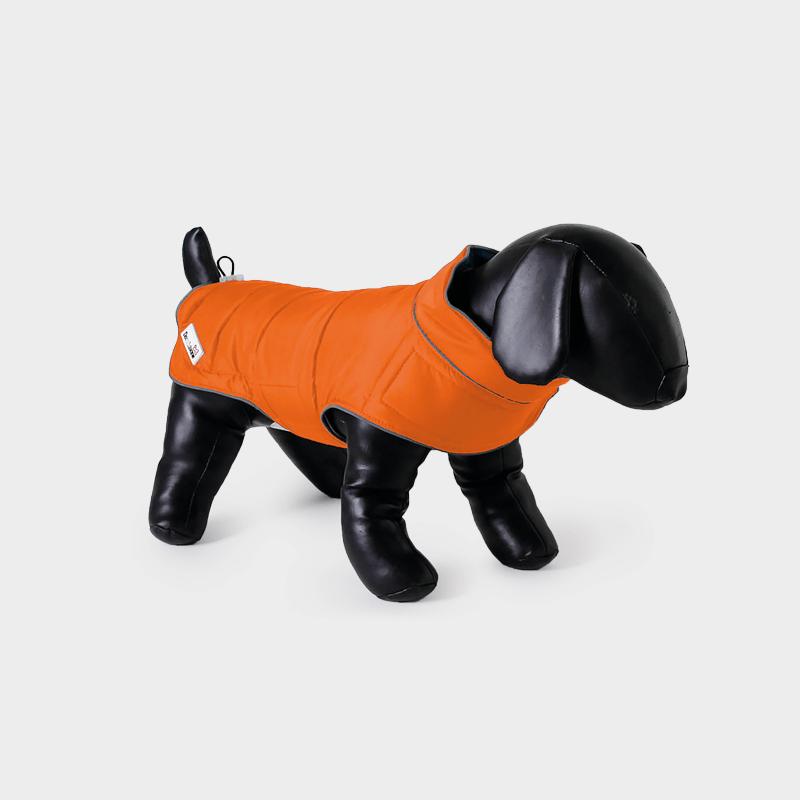 Orange Combi-Puffer-Hundejacke von Doodlebone®