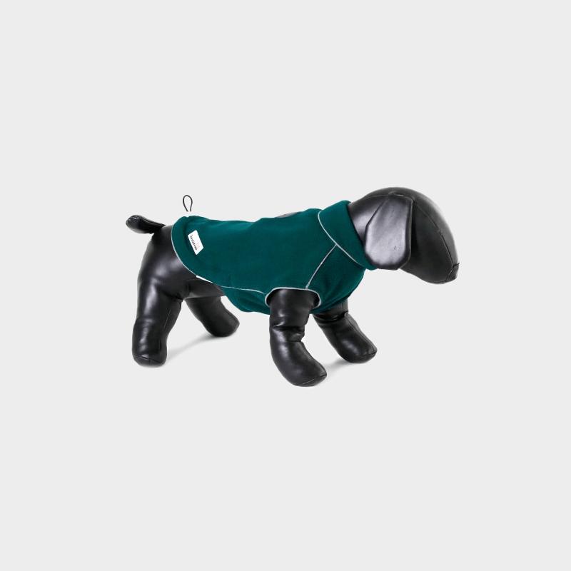 Grüne Fleecy Fleece-Hundejacke von Doodlebone®