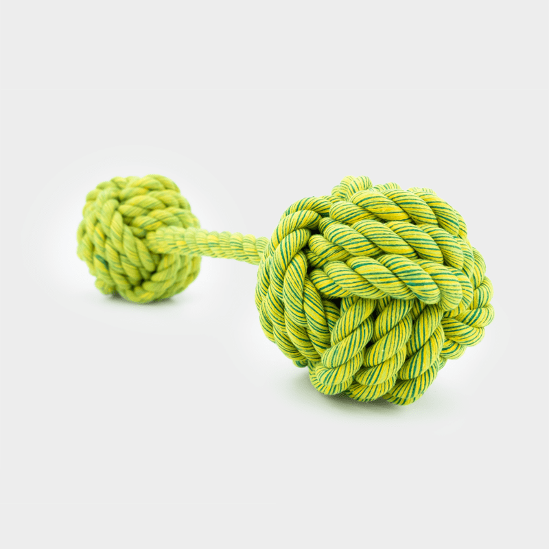 Grüner Nuts for Knots Kingsize Doppelball von Happy Pet