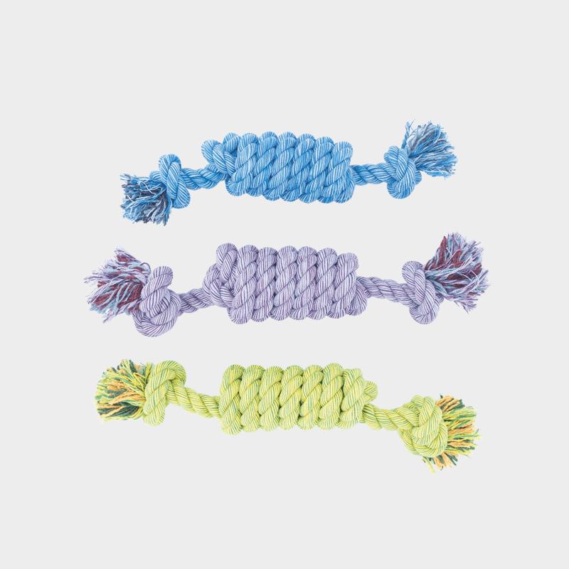 Set van 3 Nuts for Knots spoel in 3 verschillende kleuren Kingsize van Happy Pet