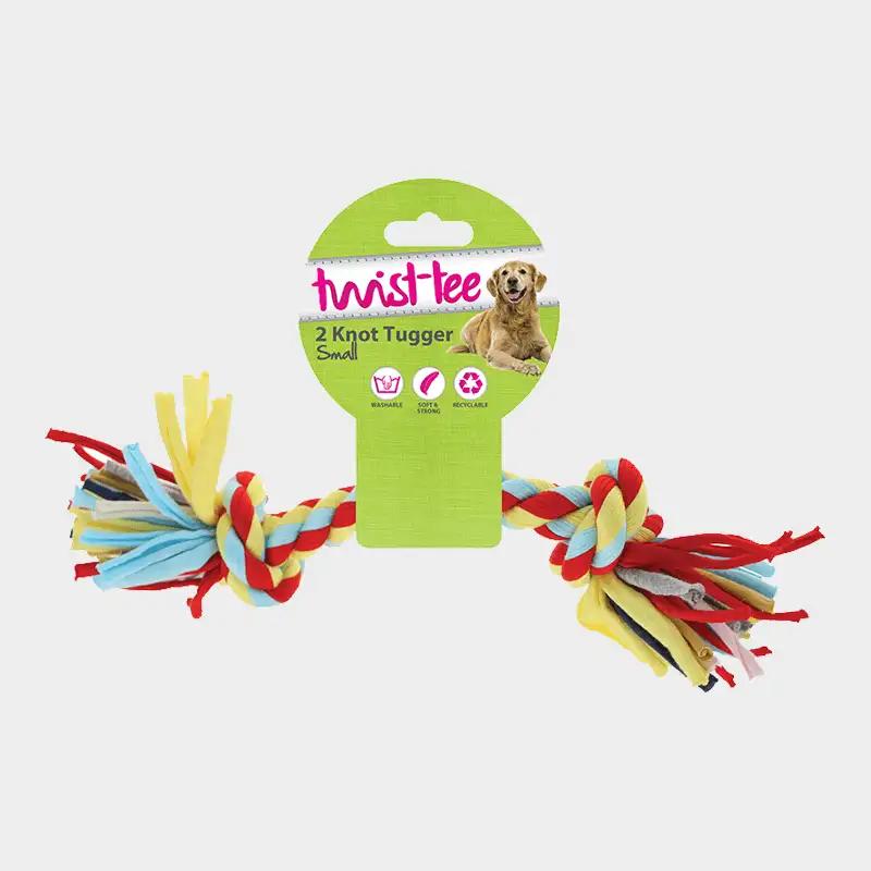 Twist-Tee Tauspielzeug 2 Knoten von Happy Pet in einzelner Ausführung originalverpackt