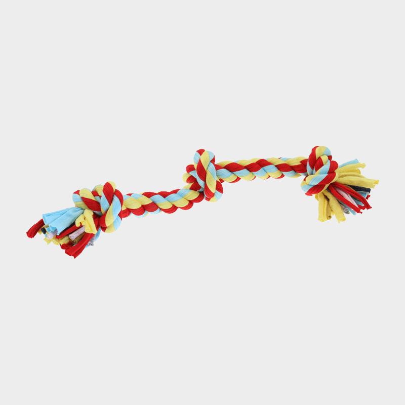 Twist-Tee Tauspielzeug 3 Knoten von Happy Pet einzeln