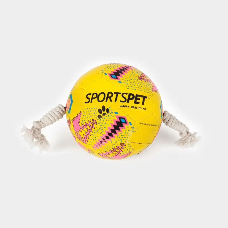Gelb-pinker Fußball Größe 3 ca. 185 mm Ø von SPORTSPET