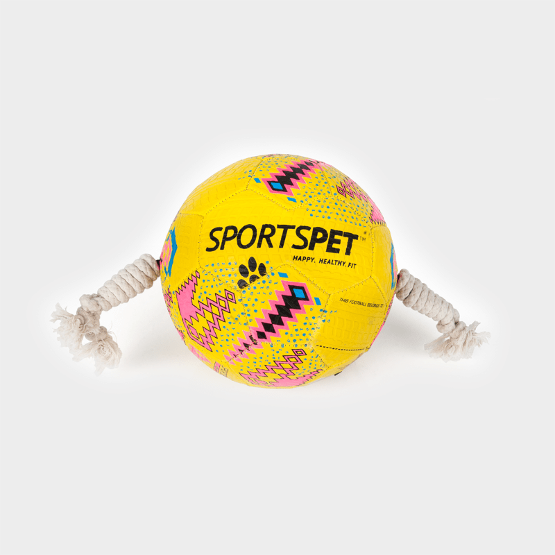 Yellow-pink soccer ball size 3 approx. 185 mm Ø from SPORTSPET