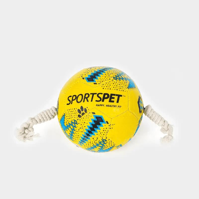 Gelb-blauer Fußball Größe 3 ca. 185 mm Ø von SPORTSPET