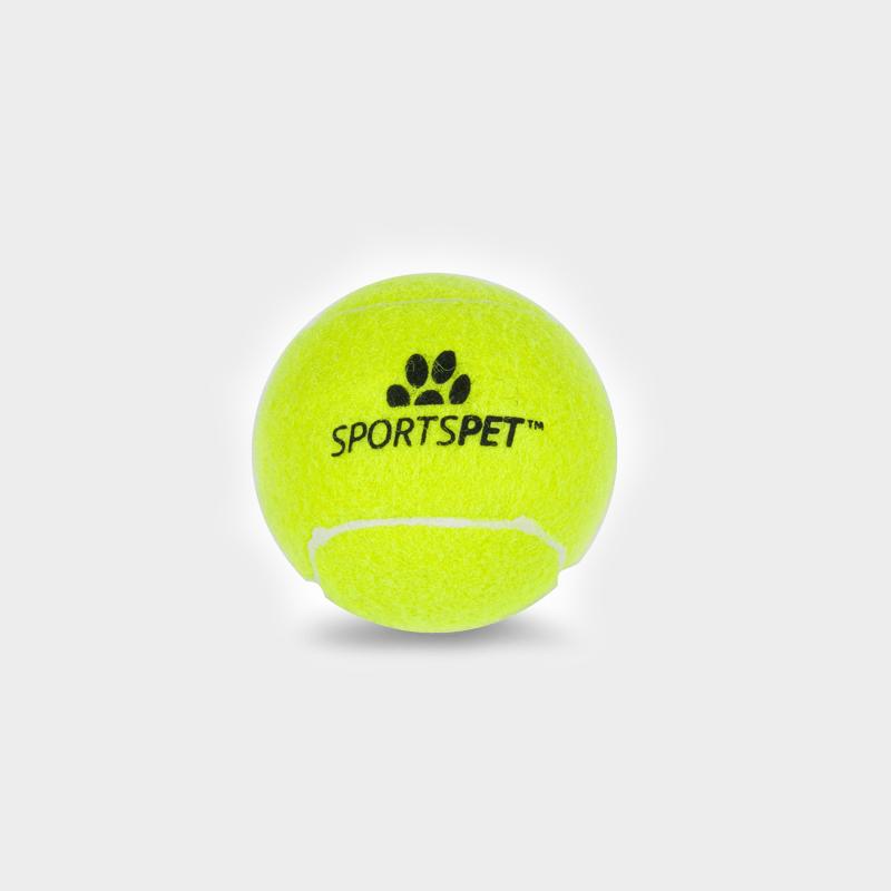 Einzelner Tennisball 65 mm Ø ohne Quietscher von SPORTSPET