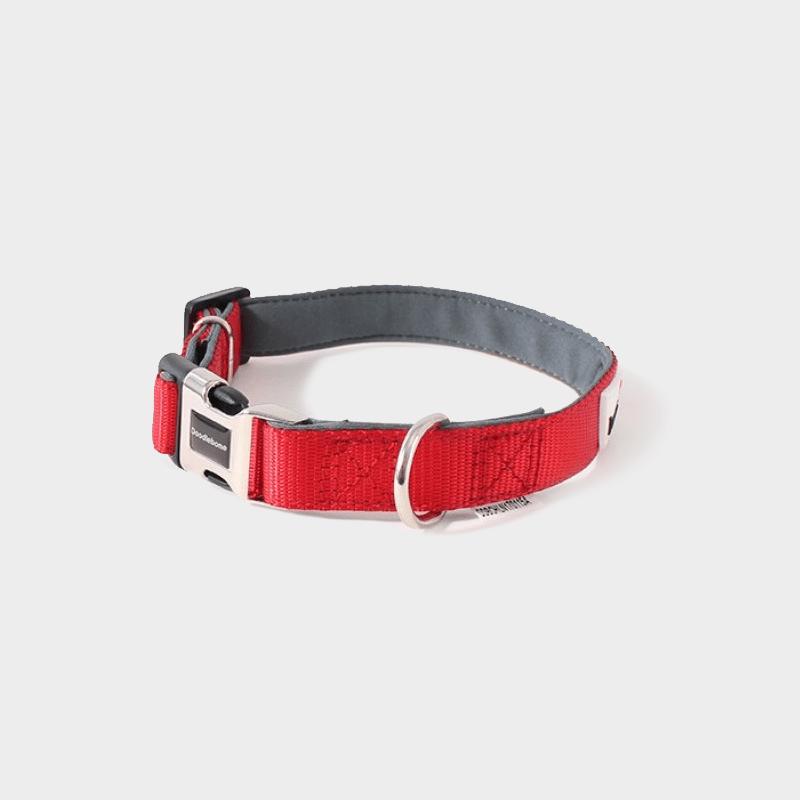 Rotes, gepolstertes Halsband Bold von Doodlebone®
