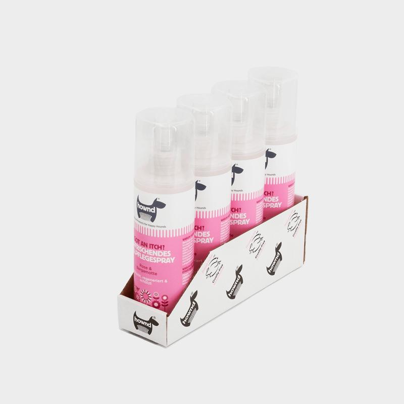 Tray 4 x 250 ml erfrischendes Fellpflegespray Got An Itch? von HOWND gegen Juckreiz