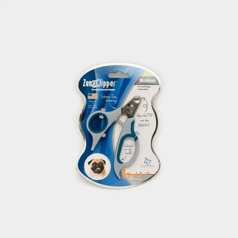 Sicherste Krallenschere für Zuhause ZenClipper von PerAnimal in den Größen XXS bis XXL blau in Originalverpackung