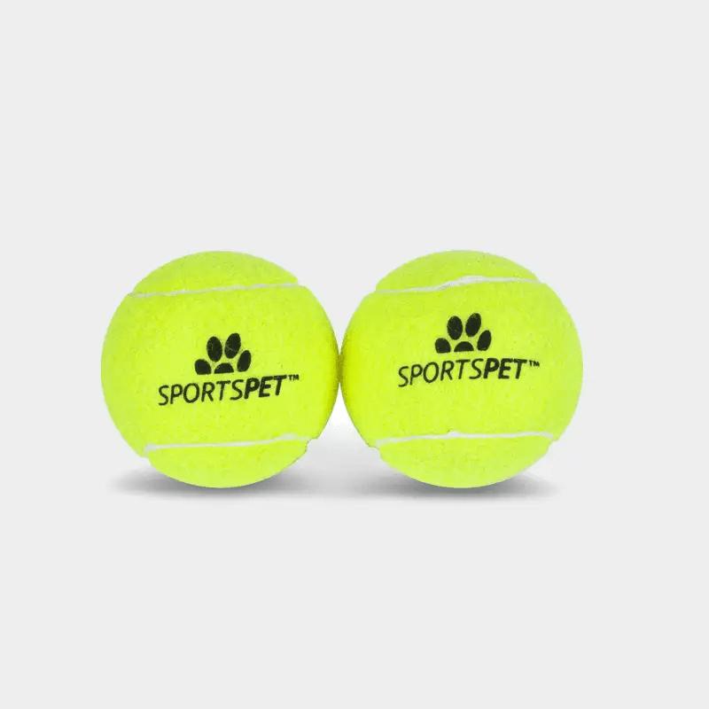 Tennisball 2er Pack 80mm Ø ohne Quietscher von SPORTSPET