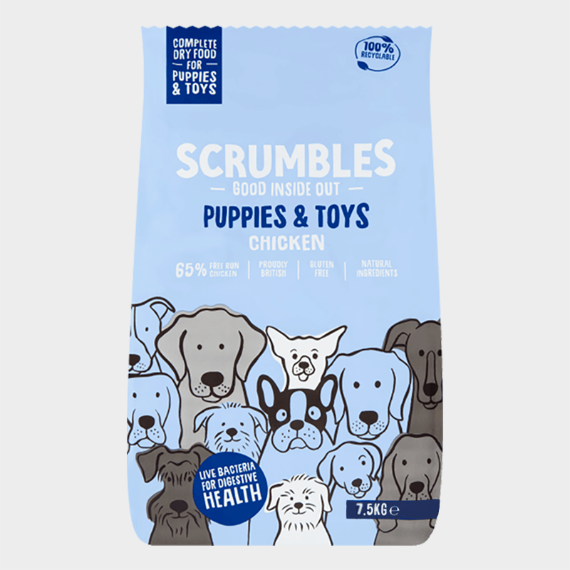 Complete feed puppies & small dogs from Scrumbles - chickens 7.5 kg