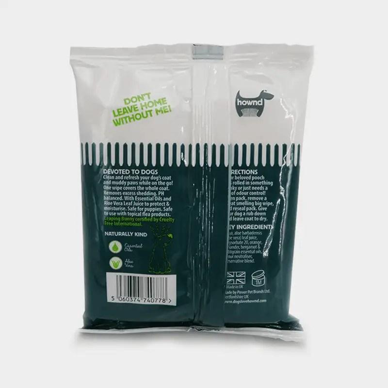Rückseite Yup You Stink! antibakterielle Notfall-Hundetücher von HOWND