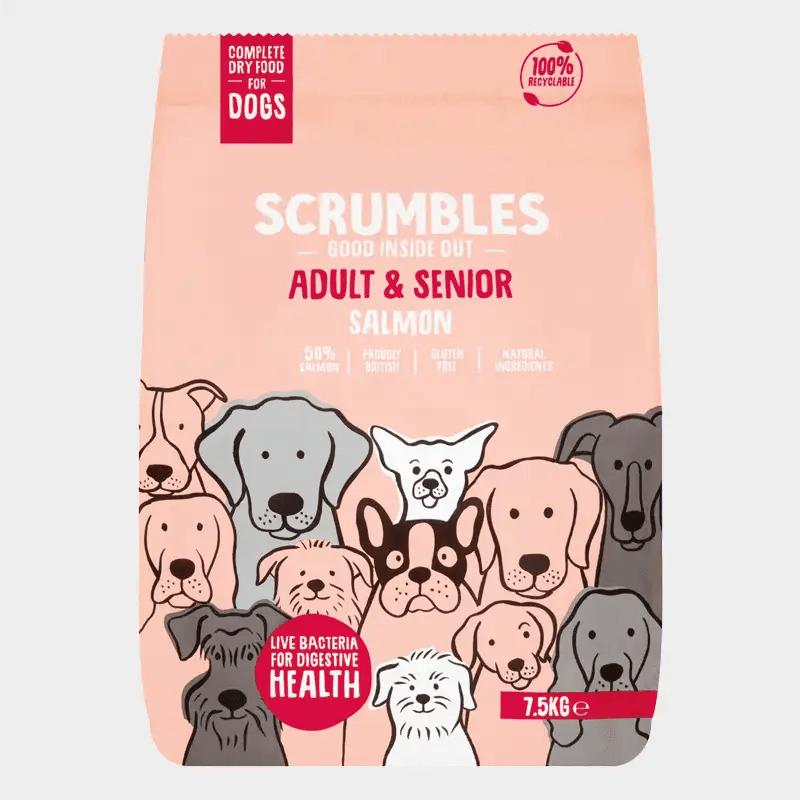 Alleinfutter für erwachsene Hunde & Hunde-Senioren von Scrumbles - Lachs 7.5 kg