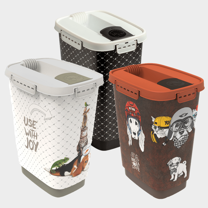 Rotho MyPet feed container variant of the 3 pieces 10 l
