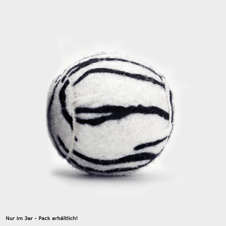 SPORTSPET Tennisball Dschungel Variante einzeln weiß getigert