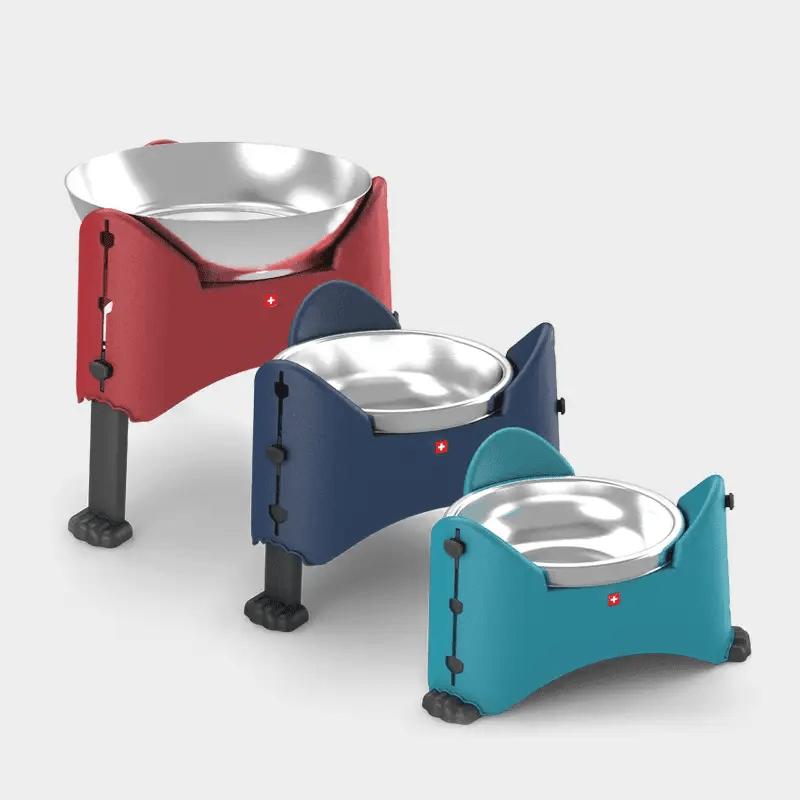 Rotho MyPet Sammy höhenverstellbarer Futternapf in 3 Varianten rot, blau und aqua