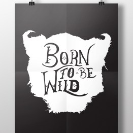Born to be free hanging poster