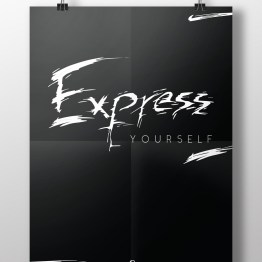 Express yourself hanging poster