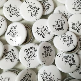born to be free buttons