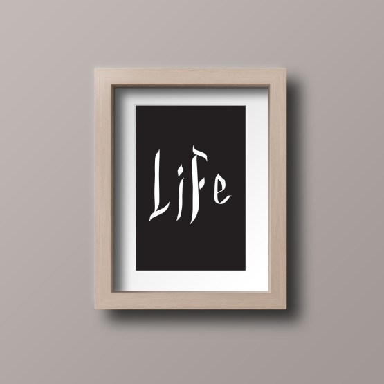 life framed postcard