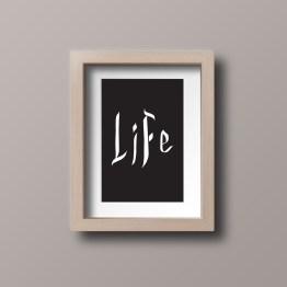 life framed postcard