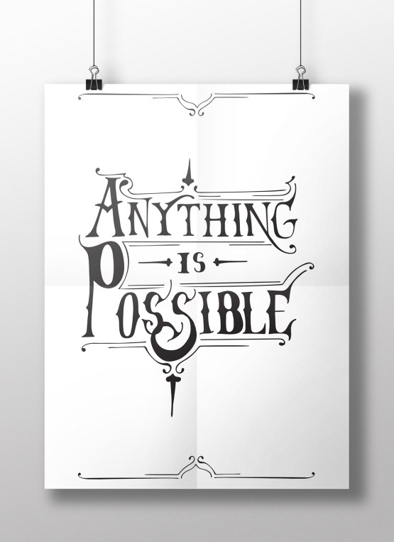 anything is possible hanging poster.