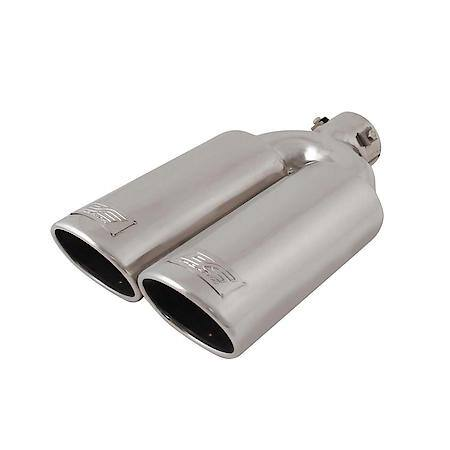 stainless steel universal fit dual exhaust tip slant cut