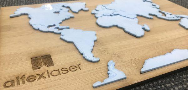 Alfex Laser Cut World Map