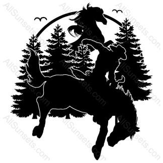 Cowboy Rodeo Horse Vector
