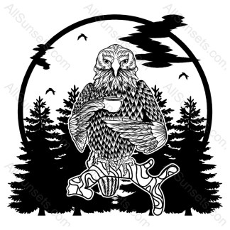 Eagle Forest Vector