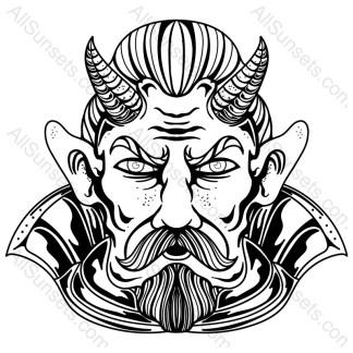 Devil Hell Man Character Vector