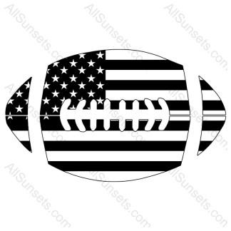 Football Shaped American Flag