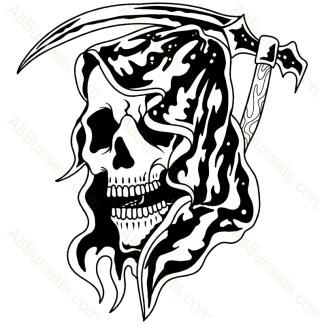 Grim Reaper Sickle Vector