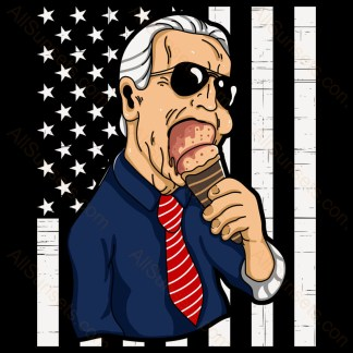 Joe Biden Portrait Ice Cream Stars and Stripes