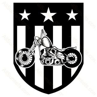 Motorcycle Biker Patriotic Badge