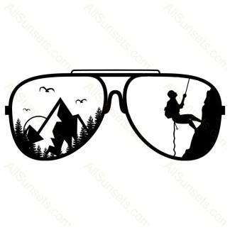 Mountain Climber Sunglasses Vector