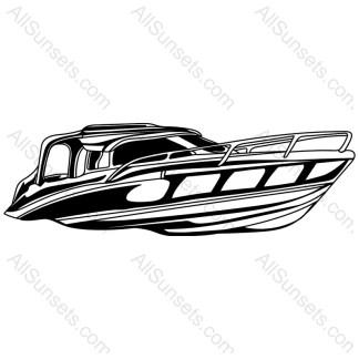Ocean Cruiser Boat Vector