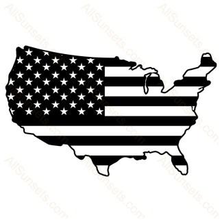 United States Shape American Flag