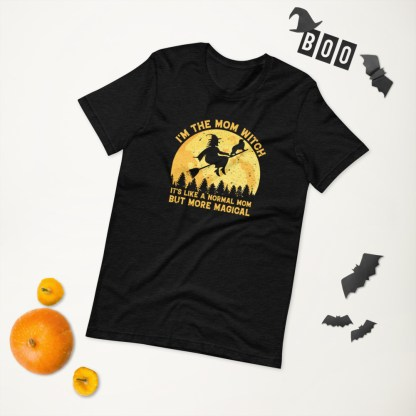 I'm The Mom Witch Halloween T-shirt Design
