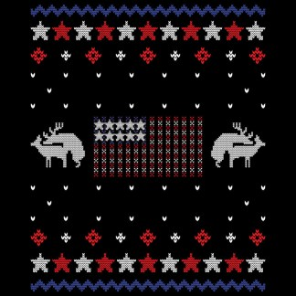 Patriotic Flag Deer Humping Tacky Holiday Party