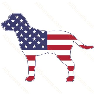 Pitbull Dog Shaped American Flag