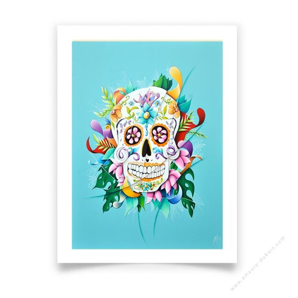calavera Mexican Skull limited edition prints