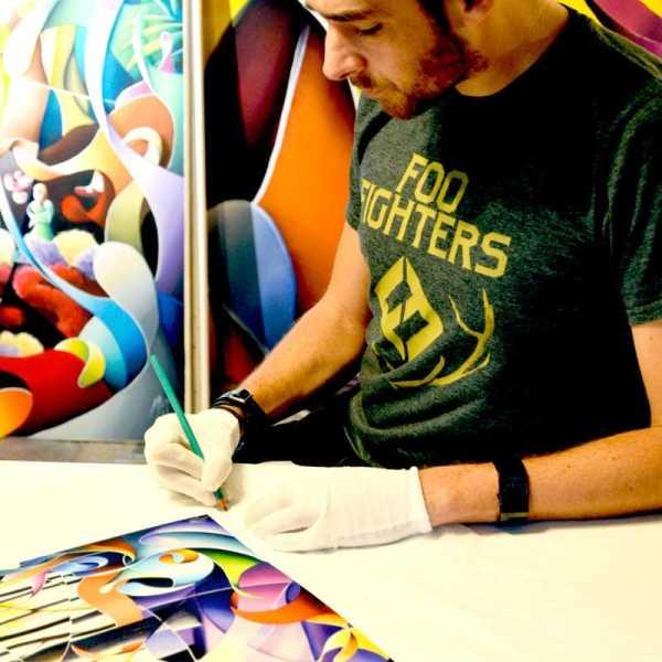 Reproduction peinture colorée Forêt-édition d'art limitée.