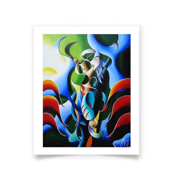 Reproduction peinture moderne coloré,