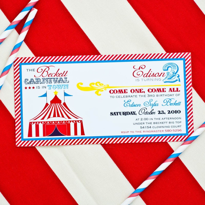 Vintage Carnival Circus Birthday Party Printable