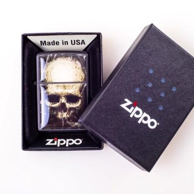Zippo AE Tattoo-Skull black