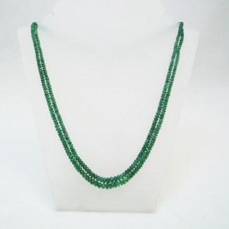 Zweireihige Smaragdkette