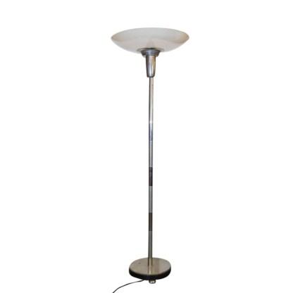 Art Deco-Stehlampe mit Kunststoffschirm, um 1930/40