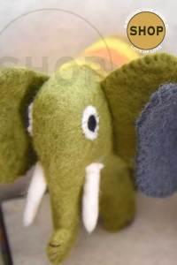 Handgemaakt vilt olifant. 5372. Speelgoed, dieren.