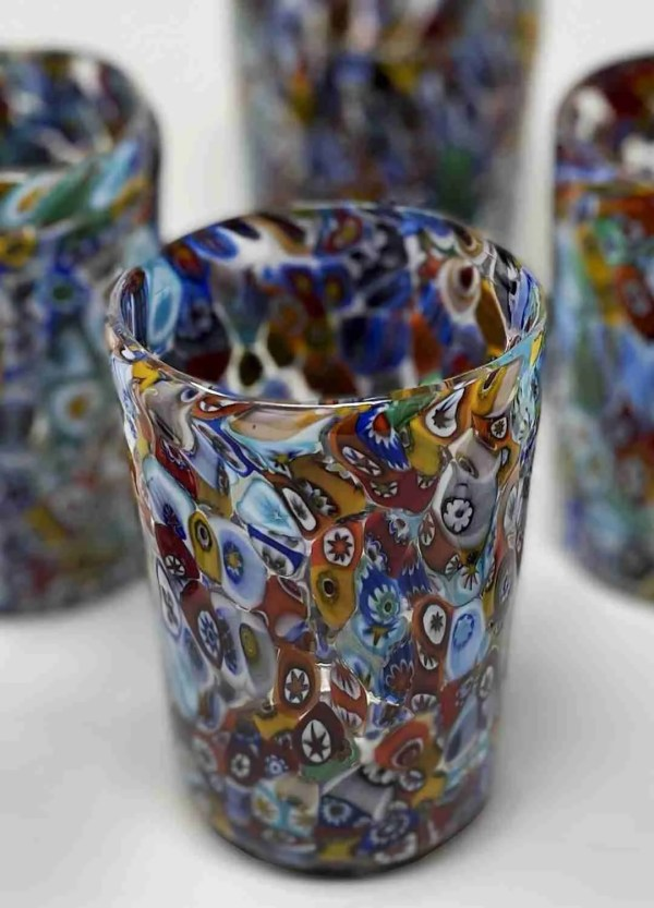 Table glass that was used for drinking in furnaces. Handmade by our glass masters in Murrine.